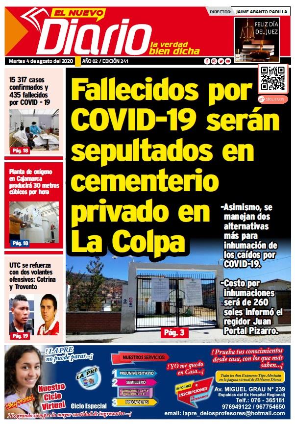 Portada El Nuevo Diario